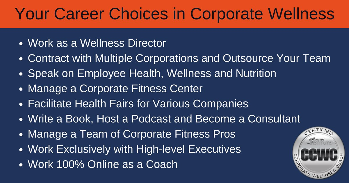 career options in corporate health and wellness